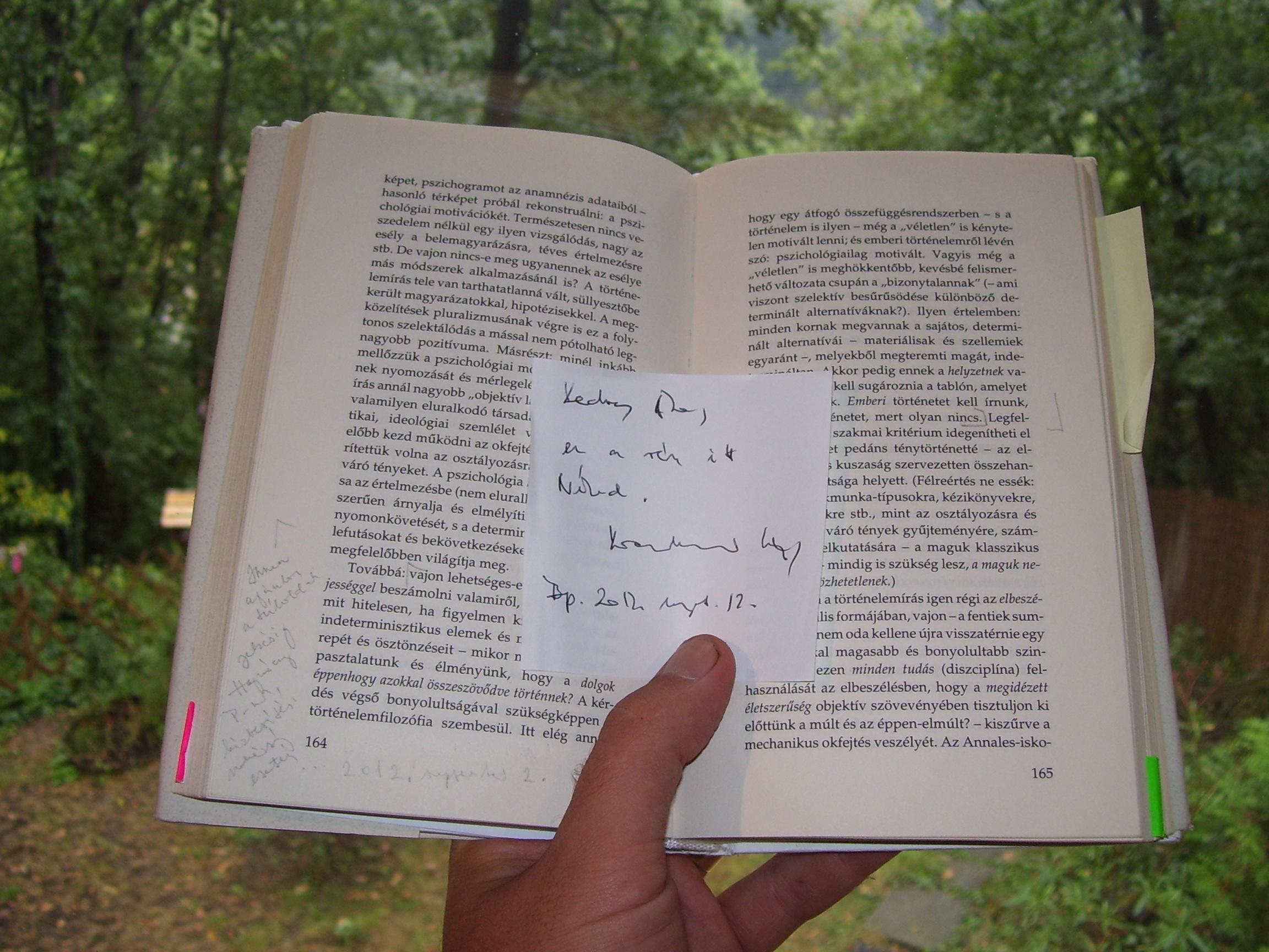 Győrffy Ákos kezében a könyv