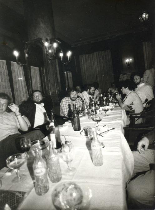 Margócsy István két régi képet bocsátott rendelkezésünkre.   A képek az Astoriában készültek, 1985. máju