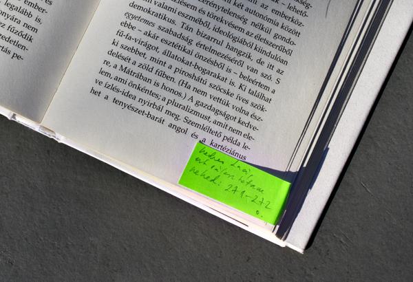 Nádas Péter cetlije Mészöly Miklós könyvében