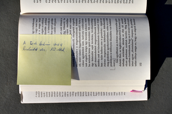 Földényi F. László bejegyzése Beck Andrásnak