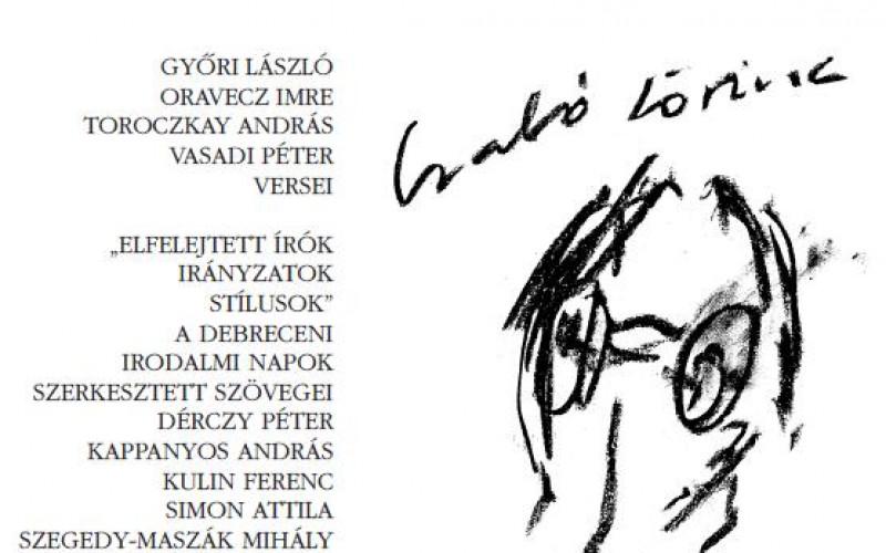 4321466bd2 Oravecz Imre versei az Alföldben | Litera – az irodalmi portál