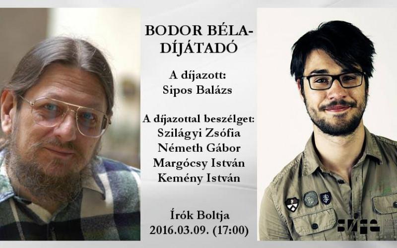 Sipos Balázs nyerte az idei Bodor Béla-díjat