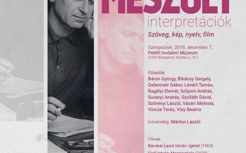 Mészöly-interpretációk a Petőfi Irodalmi Múzeumban