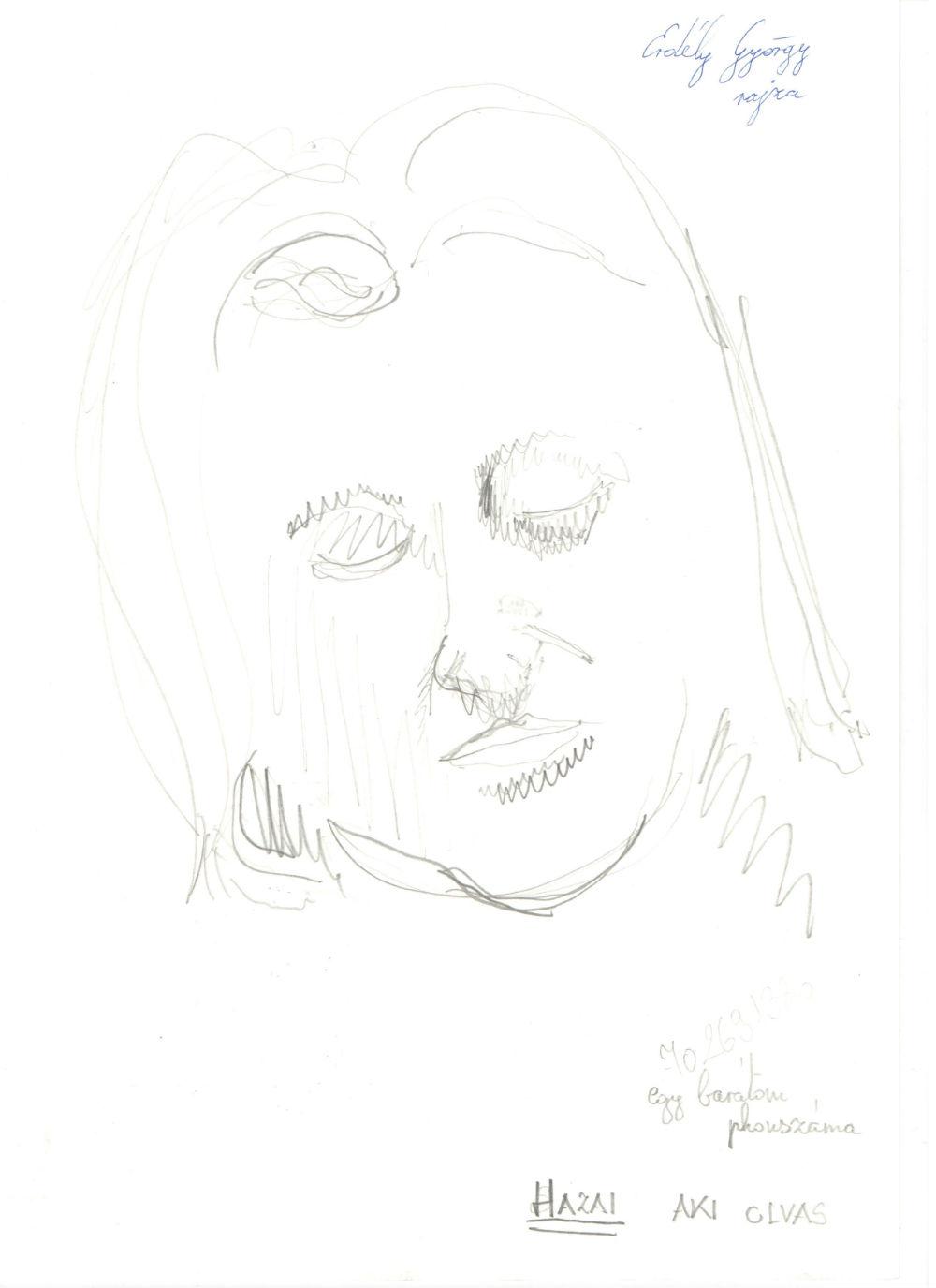Hazai Attila - Erdély György rajza