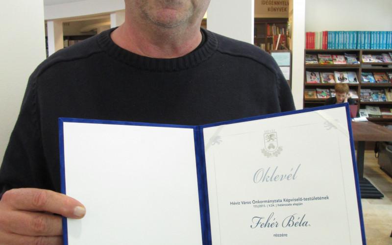 Fehér Béla Hévíz-díjas